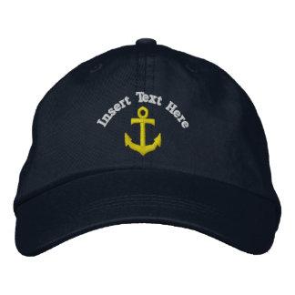 Âncora feita sob encomenda chapéu bordado boné bordado