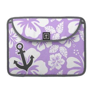 Âncora; Hibiscus tropical da lavanda brilhante Bolsa Para MacBook Pro