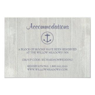 Âncora náutica do cartão | da acomodação do