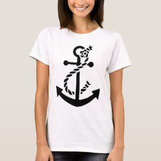 Âncora náutica do fuzileiro naval do marinho do camiseta