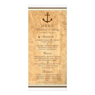 Âncora náutica menu quadro do casamento de papel