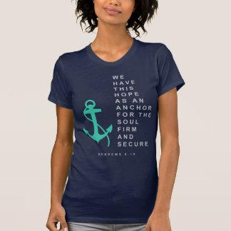 Âncora para a alma (6:19 dos hebraicos) camiseta