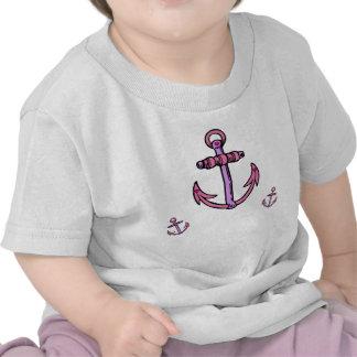 Âncoras cor-de-rosa e roxas camisetas