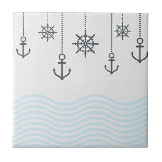 Âncoras e ondas náuticas