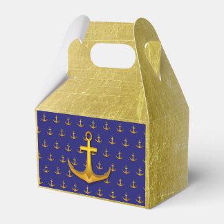 Âncoras náuticas da caixa do favor dos doces do