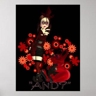 *And* gótico ANCA do poster do pintinho e do coelh Pôster