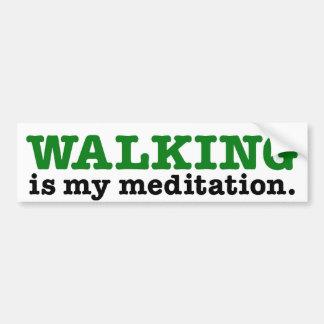 Andar é meditação (a edição verde) adesivo para carro
