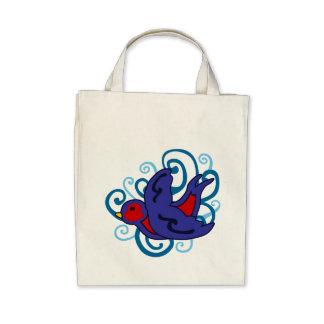 Andorinha de Swirly Bolsas De Lona