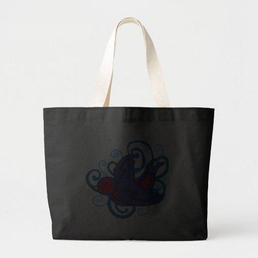 Andorinha de Swirly Bolsas Para Compras