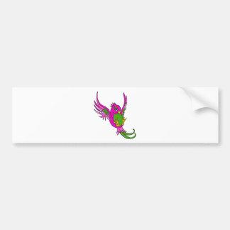 Andorinha do rosa e do verde adesivo para carro