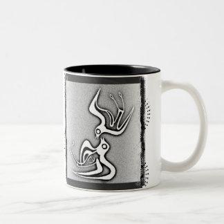 Andorinhas de Minoan Caneca De Café Em Dois Tons