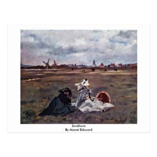 Andorinhas por Manet Edouard Cartões Postais