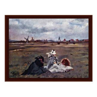 Andorinhas por Manet Edouard Cartao Postal