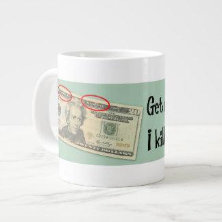 Andrew Jackson eu matei os bancos Caneca De Café Grande