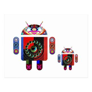 Android do pai e do bebê - Art101 por Navin Cartão Postal