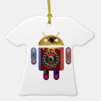 ANDROID por Navin Joshi Ornamento De Cerâmica Camiseta