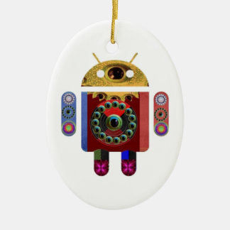 ANDROID por Navin Joshi Ornamento De Cerâmica Oval