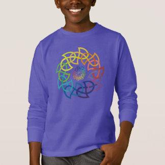 Anéis celtas de Knotwork do arco-íris Camiseta