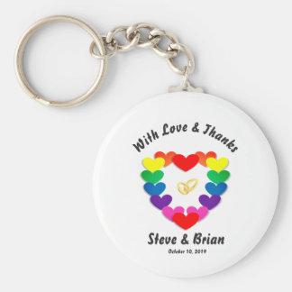 Anéis chaves do favor feito sob encomenda lésbica chaveiro