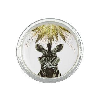 Anéis Com Foto Animal do estilo da zebra do hipster