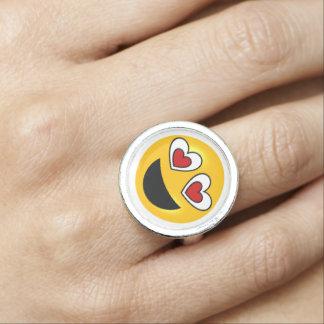 Anéis Com Foto Coração Emoji