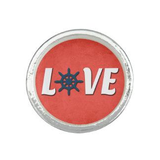 Anéis Com Foto Design náutico do amor