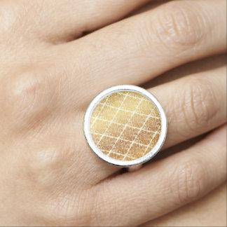 Anéis Com Foto O vintage, ouro, damasco, floral, teste padrão,