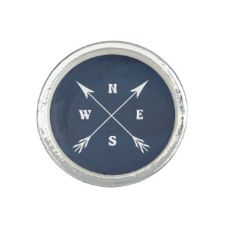 Anéis Com Foto Setas do compasso