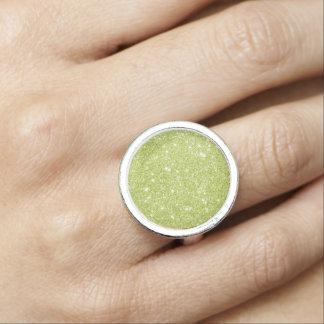 Anéis Com Foto Sparkles do brilho do verde limão