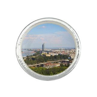 Anéis Com Foto Vista sobre Viena