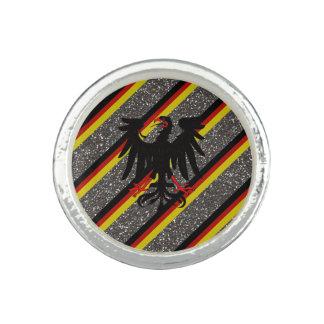 Anéis Com Fotos Bandeira alemão das listras