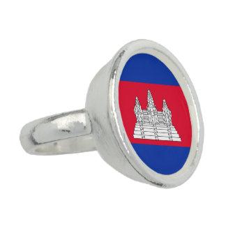 Anéis Com Fotos Bandeira de Cambodia