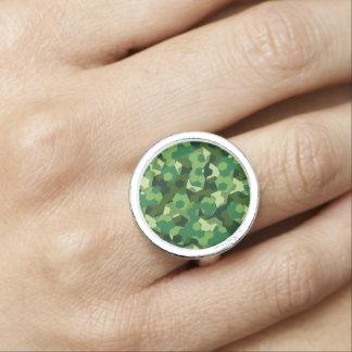 Anéis Com Fotos Camuflagem geométrica da floresta