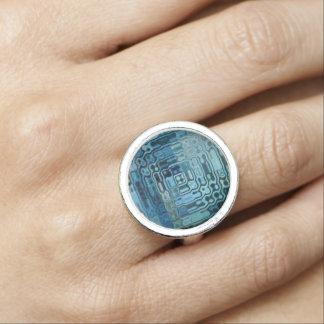 Anéis Com Fotos Design da maravilha do azul de gelo