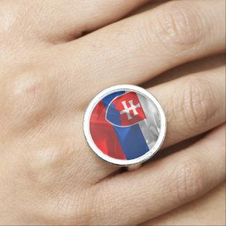 Anéis Com Imagem Bandeira de Slovakia