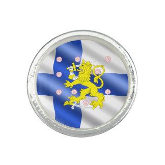 Anéis Com Imagem Bandeira finlandesa