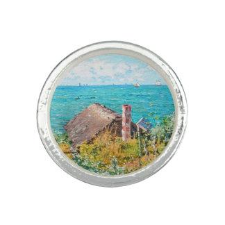 Anéis Com Imagem Claude Monet a cabine em belas artes do
