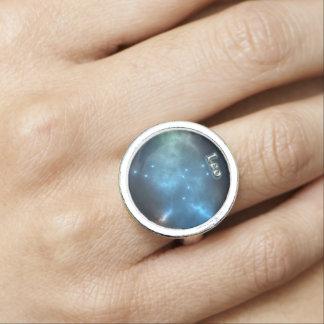Anéis Com Imagem Constelação de Leo