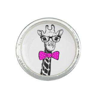 Anéis Com Imagem Girafa do hipster