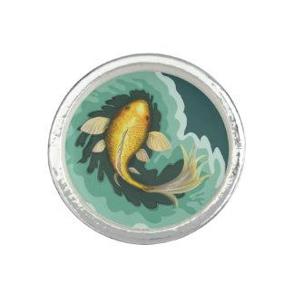 Anéis Com Imagem Peixes originais da carpa de Koi