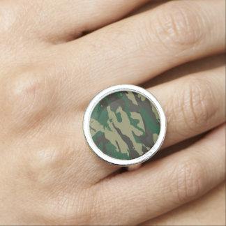 Anéis Com Imagens Camuflagem das florestas