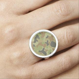 Anéis Com Imagens Camuflagem do verde de Auscam