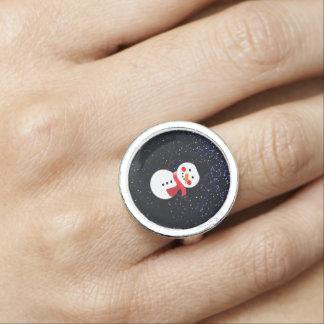 Anéis Com Imagens Design do lenço feericamente da poeira/boneco de