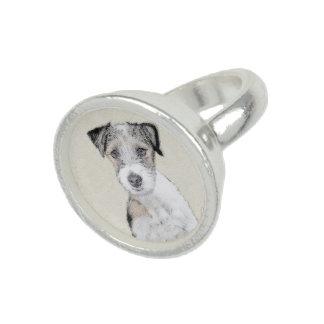 Anéis Com Imagens Russell Terrier (áspero)