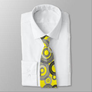 Anéis concêntricos retros/registros de vinil gravata
