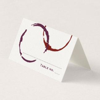 Anéis da mancha do vinho do cartão | do lugar da