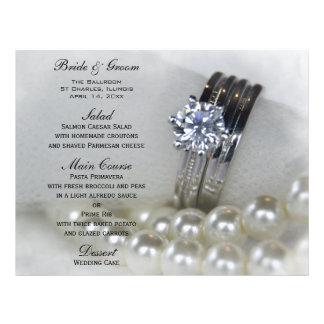 Aneis de diamante e pérolas que Wedding o menu