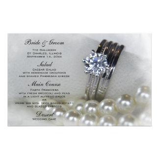 Aneis de diamante e pérolas que Wedding Papelaria