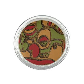 Anéis Design maia original dos Hieroglyphs