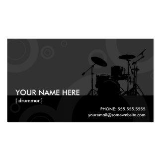 anéis do baterista cartão de visita